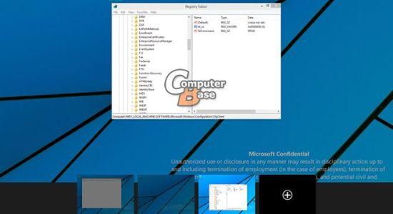Virtuálne plochy Windows 9 /Zdroj: ComputerBase